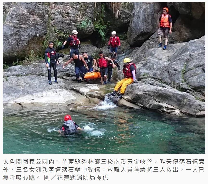 從事溯溪活動時應懂得如何面對活動中會遇到的危險